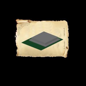 Цолколь бетонный двойной саркофаг с отмосткой без площадки под лавочку и стол