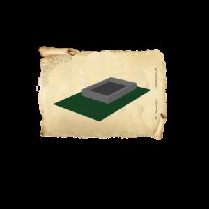 Цолколь бетонный одинарный без отмостки без площадки под лавочку и стол