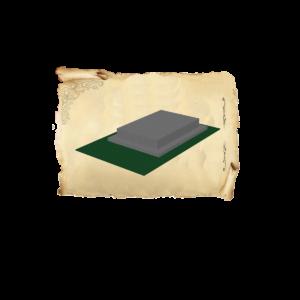 Цолколь бетонный одинарный саркофаг с отмосткой без площадки под лавочку и стол
