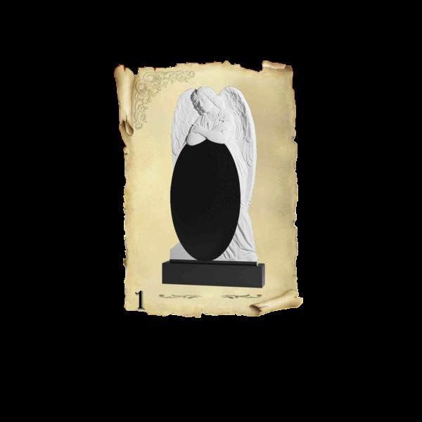 Памятник объемный 3D гранит №1