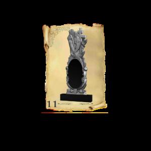 Памятник объемный 3D гранит №11