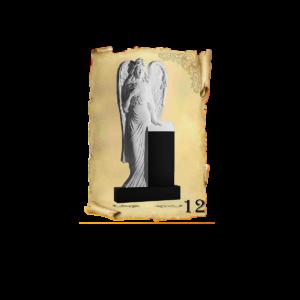 Памятник объемный 3D гранит №12