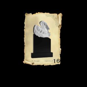 Памятник объемный 3D гранит №16