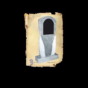 Памятник мрамор №3