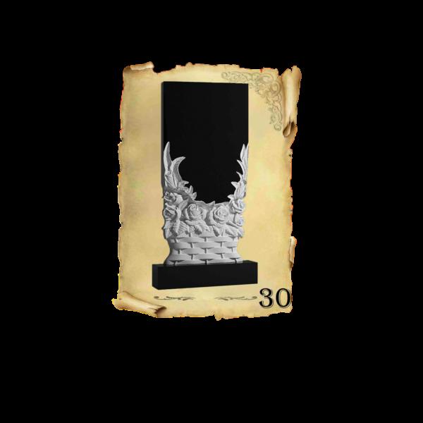 Памятник объемный 3D гранит №30