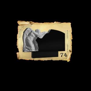 Памятник объемный 3D гранит №74